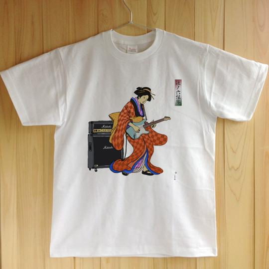 浮世絵ギター Tシャツ